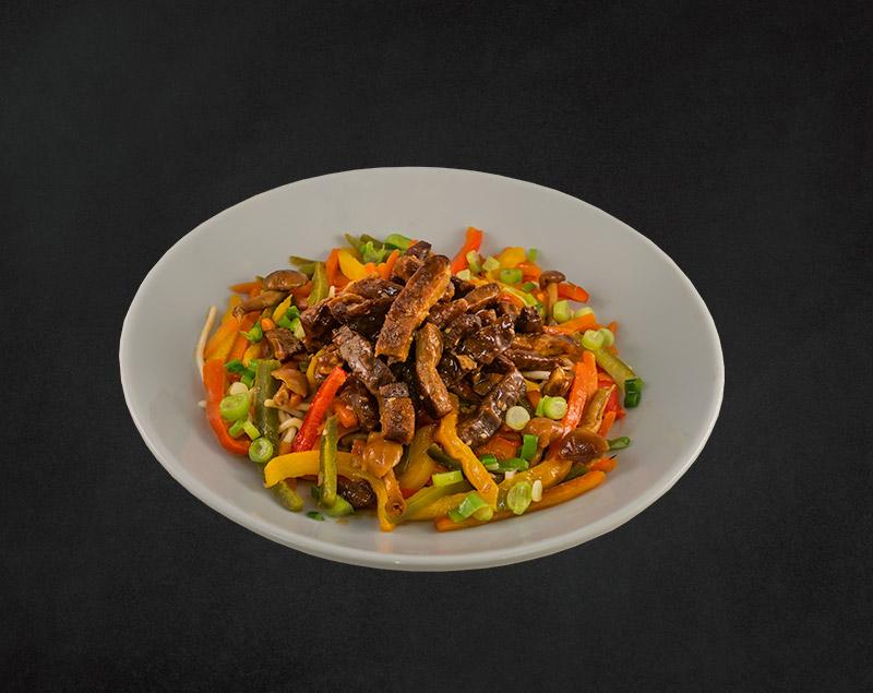 Geroosterde reepjes varkensvlees
